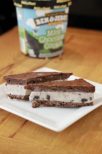 Brownie Ice Cream Sammich
